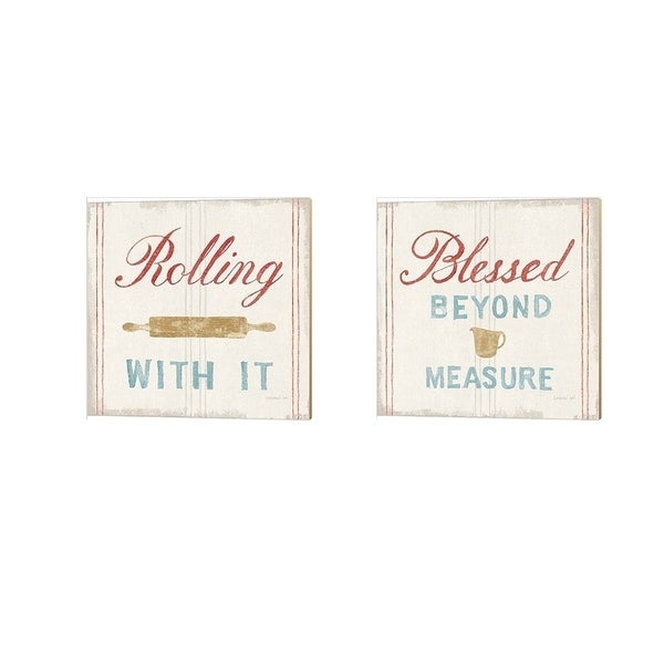 The Gray Barn Danhui Nai 'Floursack Kitchen Bold' Canvas Art (Set of 2)