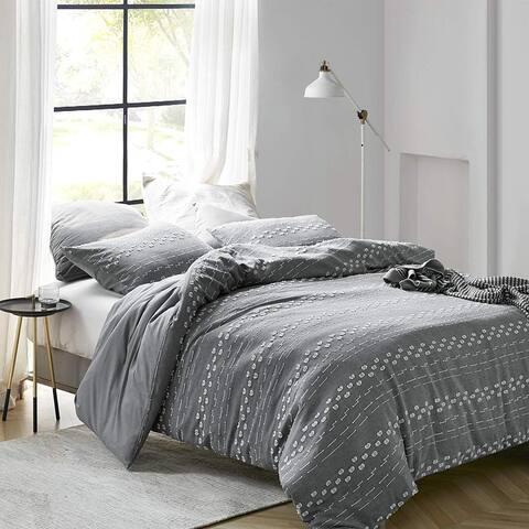 Conceptual Gray Textured Oversized Comforter