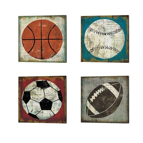 Michael Mullan 'Ball' Canvas Art (Set of 4)