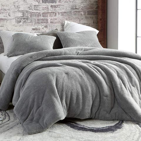 Coma Inducer Comforter - Teddy Bear - Silver Gray (Shams not included)