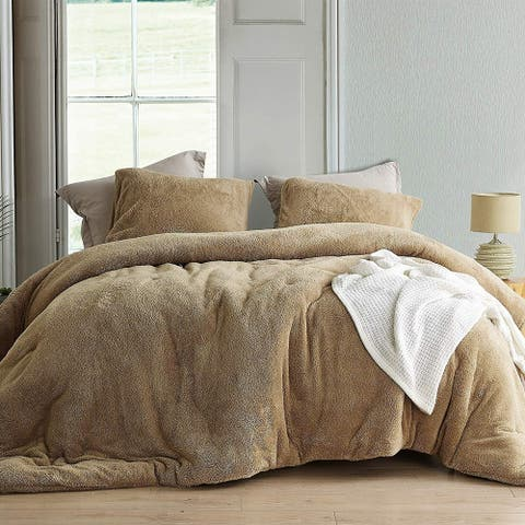 Coma Inducer Oversized Comforter - Teddy Bear - Taupe Natural (Shams not included)