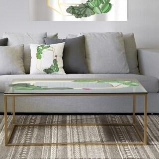 Designart 'Cactus 3' Metal Traditional Coffee Table