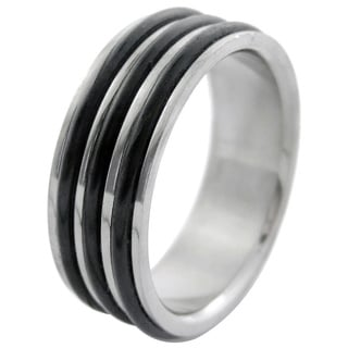 Men's Titanium Extra Wide Double Band Ring