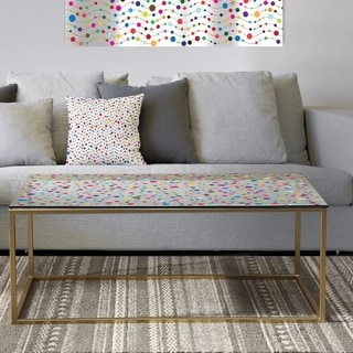 Designart 'Color Waves of Polka Dots' Metal Glam Coffee Table