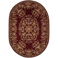 Safavieh Handmade Heritage Timeless Traditional Red Wool Rug (7'6 x 9'6 Oval)
