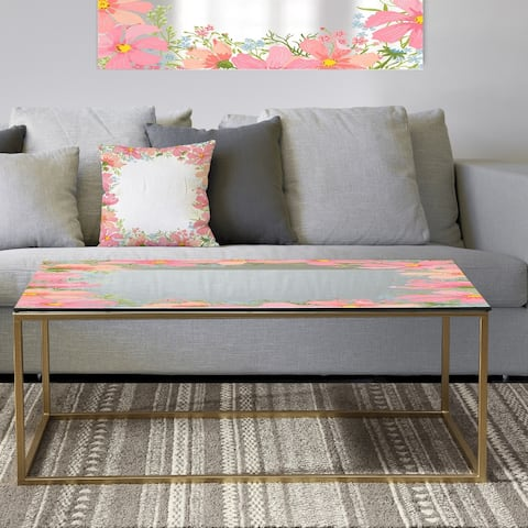 Designart 'Garland Vivid 10' Metal Traditional Coffee Table