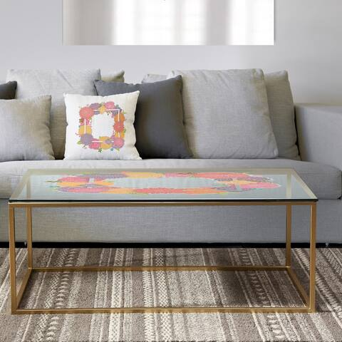 Designart 'Garland Sweet 10' Metal Farmhouse Coffee Table