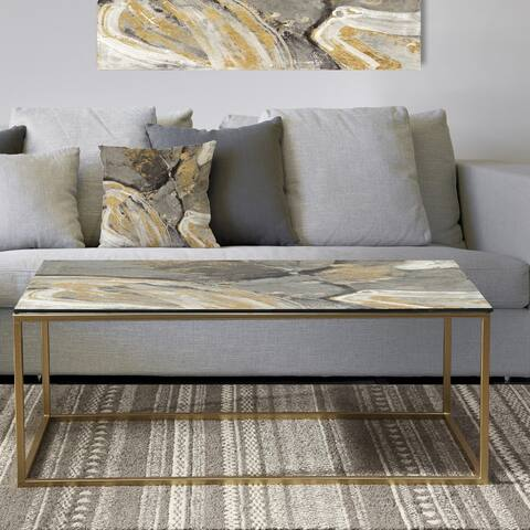 Designart 'Glam Phoenix Neutral' Metal Glam Coffee Table