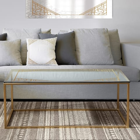 Designart 'Luxury ' Metal Modern Coffee Table