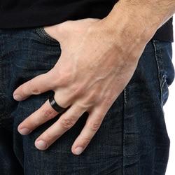 Men's Titanium Extra Wide Black-plated Ring (9 mm)