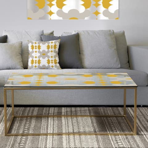Designart 'Retro Abstract Design XVIII' Metal Modern Coffee Table