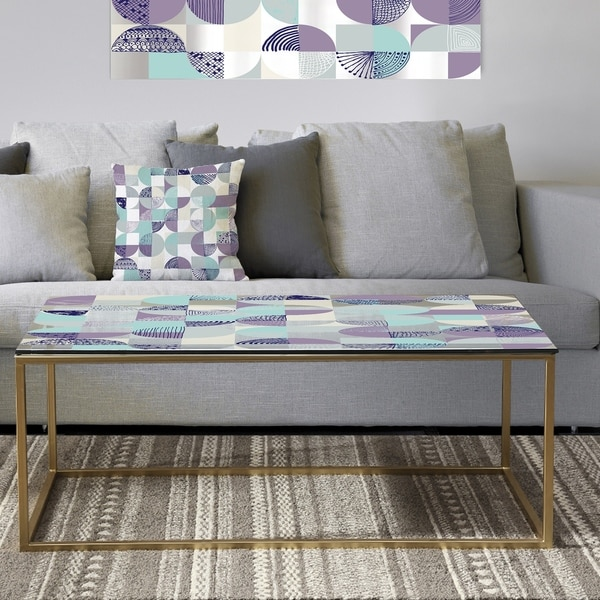 Designart 'Retro Geometric Design IV' Metal Vintage Coffee Table. Opens flyout.