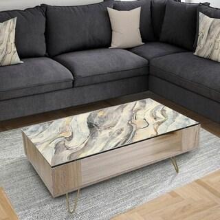 Designart 'Glam Golden Falls' Transitional Coffee Table