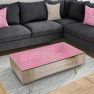 Designart 'Glamour Zebra Animal Pattern' Glam Coffee Table
