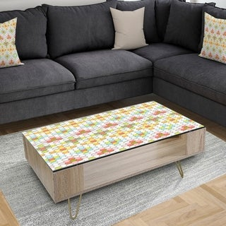 Designart 'Circles & Curves II' Modern Coffee Table