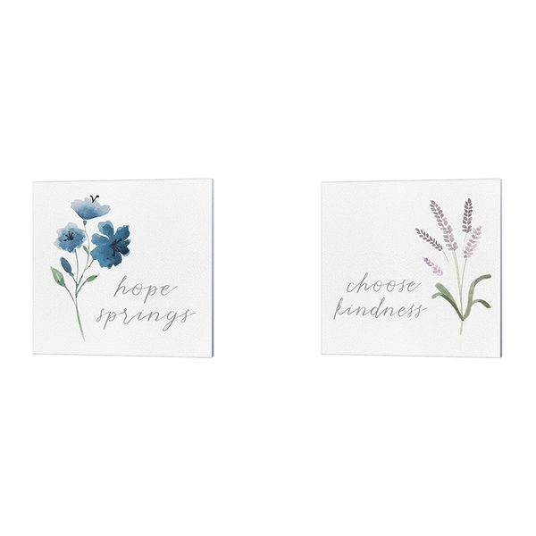 Hartworks 'Wildflowers and Sentiment B' Canvas Art (Set of 2)