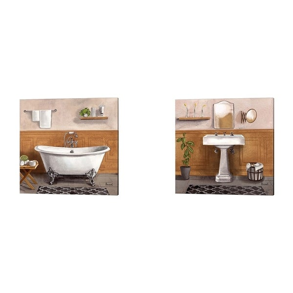 Bannarot 'Serene Bath' Canvas Art (Set of 2)