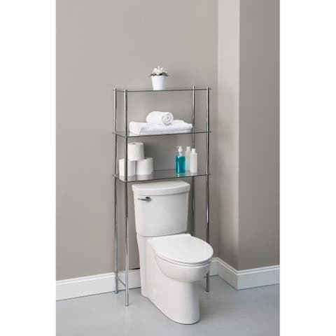 3 Tier Over the Toilet Space Saver Chrome