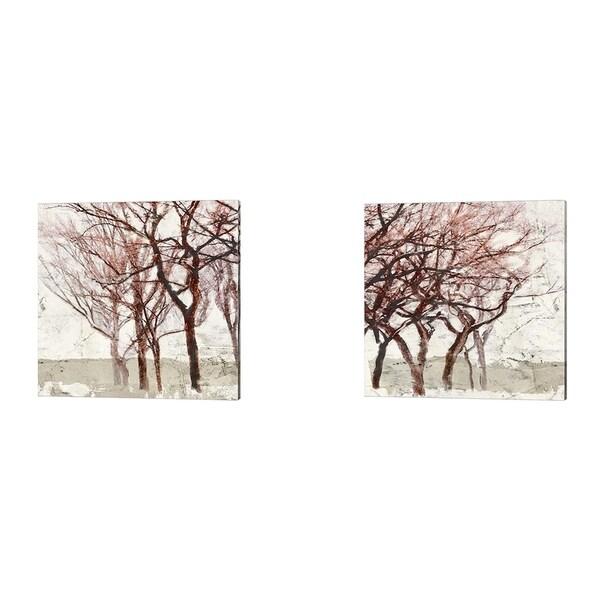 Alessio Aprile 'Rusty Trees' Canvas Art (Set of 2)