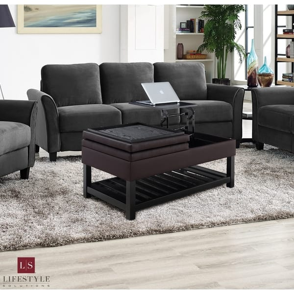 Awesome Shop Lifestyle Solutions Shawna Tufted Coffee Table With Caraccident5 Cool Chair Designs And Ideas Caraccident5Info