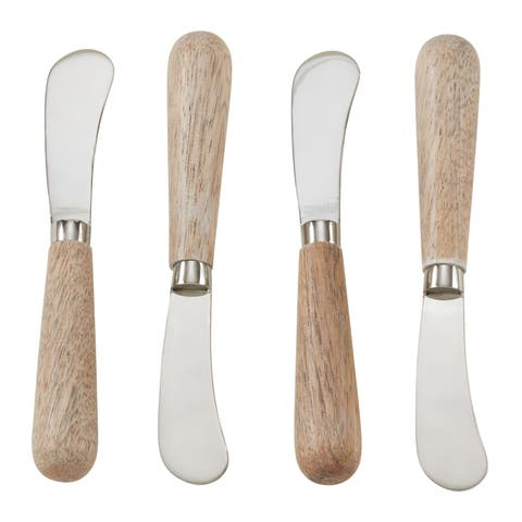 Wood Handle 4-Piece Cocktail Knife Set