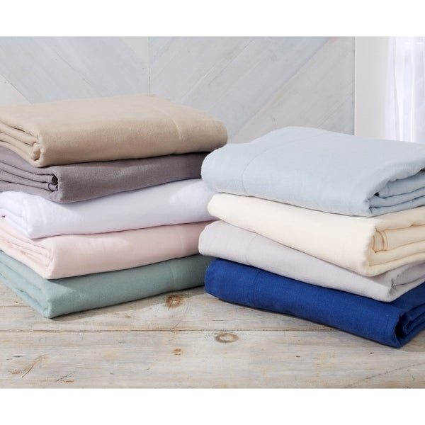Nordic Collection Extra Soft 100 Cotton Flannel Deep Pocket Bed Sheet Set. Opens flyout.