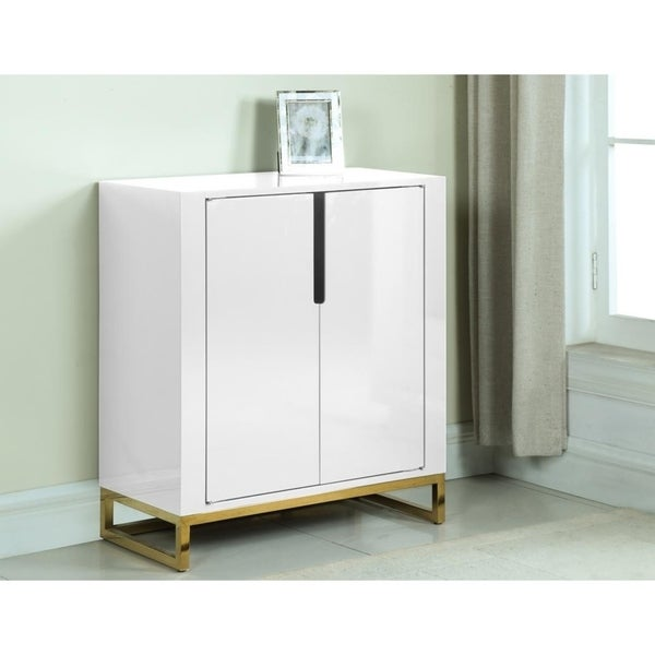 Best Master Furniture 2 Door with Storage Wine Cabinet
