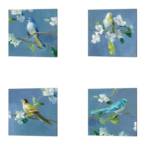 Danhui Nai 'Spring in the Neighborhood' Canvas Art (Set of 4)