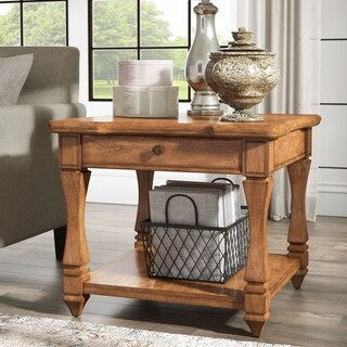 Waverly End Table with Drawer and Shelf by iNSPIRE Q Classic