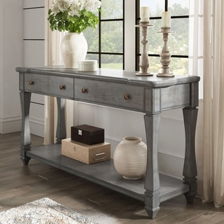 Waverly Sofa Table with Shelf and Drawer by iNSPIRE Q Classic
