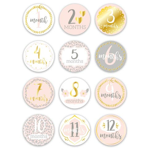 Baby Monthly Stickers by the peanutshell