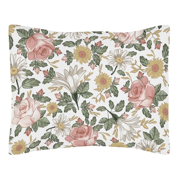 Vintage Floral Boho Farmhouse Bathroom Fabric Bath Shower Curtain by Sweet Jojo