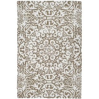 Handmade Arley Khaki Area Rug (India) - 4' x 6'/Surplus