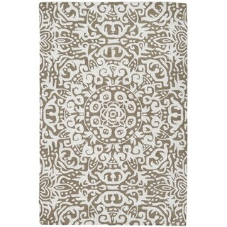 Handmade Arley Khaki Rug (India) - 3' x 5'/Surplus