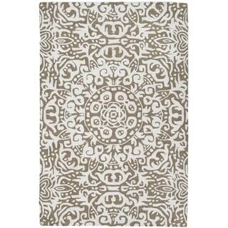 Handmade Arley Khaki Rug (India) - 5' x 8'/Surplus