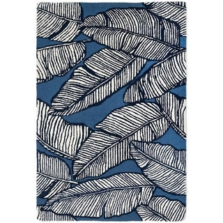 Handmade Palma Blue Rug (India) - 4' x 6'
