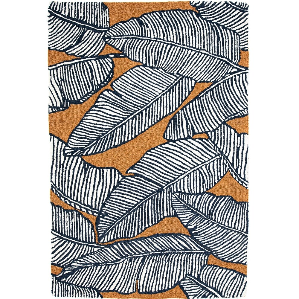 Handmade Palma Mocha Area Rug (India) - 5' x 8'/Surplus