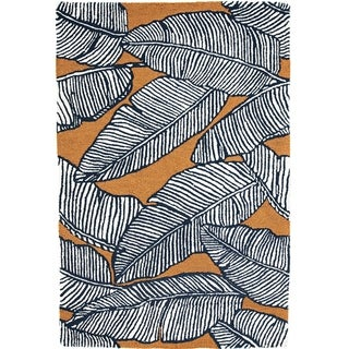 Handmade Palma Mocha Rug (India) - 3' x 5'/Surplus
