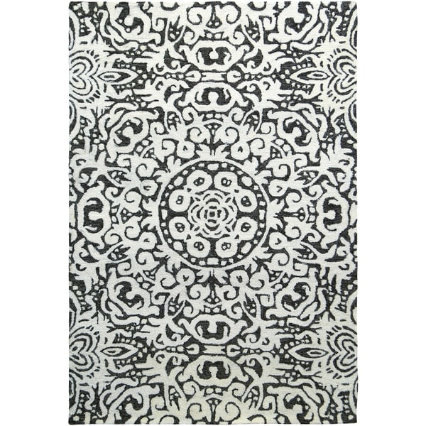 Handmade Arley Gray Area Rug (India) - 8' x 10'/Surplus
