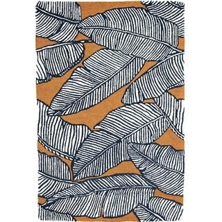 Handmade Palma Mocha Rug (India) - 8' x 10'/Surplus