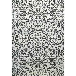 Handmade Arley Gray Rug (India) - 5' x 8'