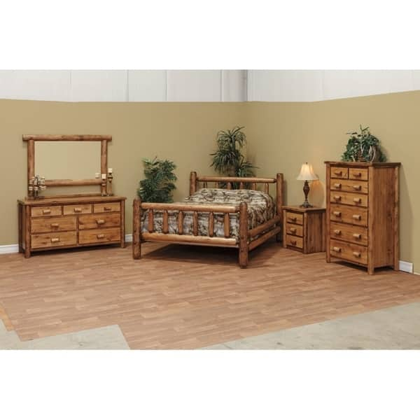 White Cedar Log Classic Mission Style Bedroom Set On Sale Overstock 29613325