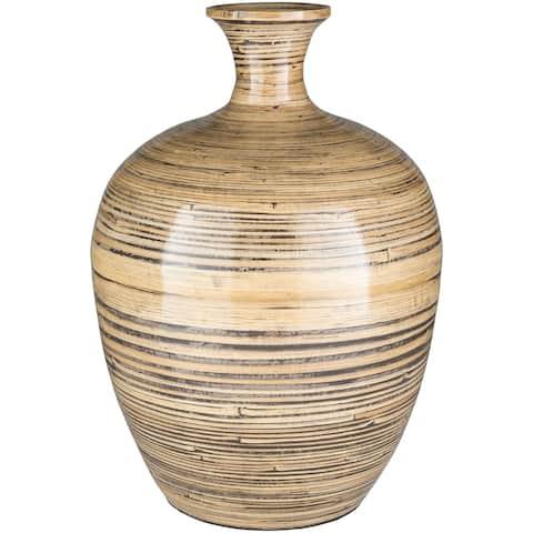Alarie Bohemian Bamboo Bud Shaped Floor Vase