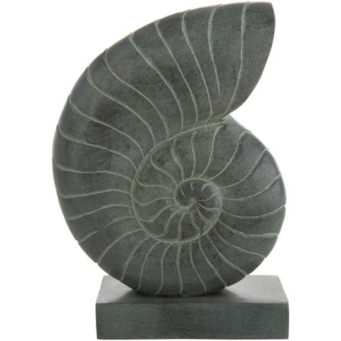 "Tairin Nautical Stone Ammonite Sculpture - 6.5"" x 2"" x 8.5"""