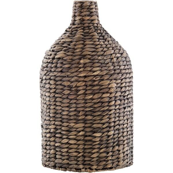 Galindo Bohemian Seagrass and Iron Bud Shaped Floor Vase