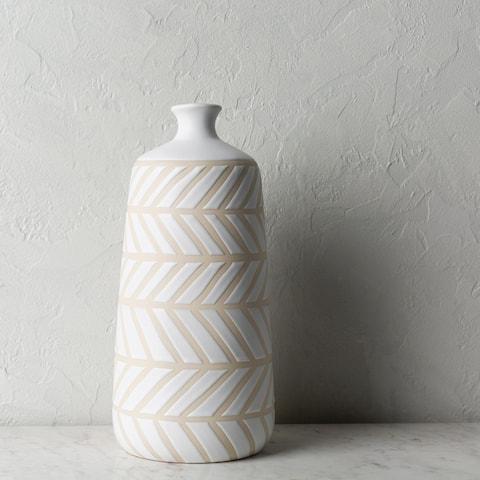 Kanja Modern Ceramic Bud Shaped Vase
