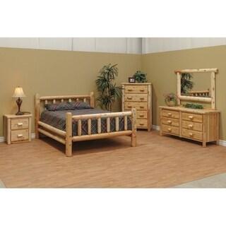 White Cedar Log Classic Mission Style Bedroom Set