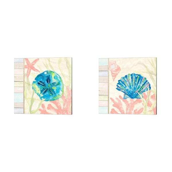 Julie DeRice 'Pastel Coastal A' Canvas Art (Set of 2)