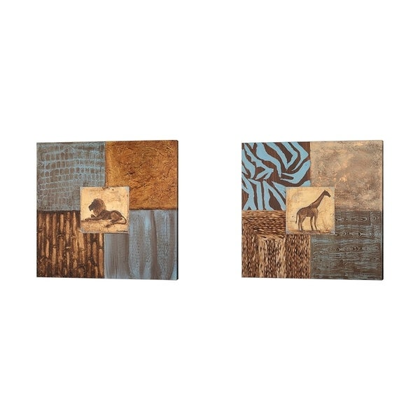 Hakimipour - Ritter 'Textures of Africa' Canvas Art (Set of 2)
