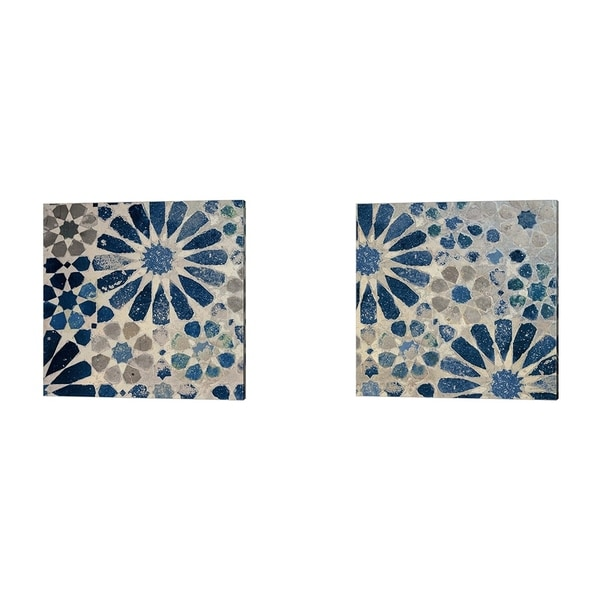 Sue Schlabach 'Alhambra Tile Stone' Canvas Art (Set of 2)